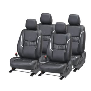 Buy Pegasus Premium Innova Car Seat Cover - (code - Innova_black_silver_lotus) online