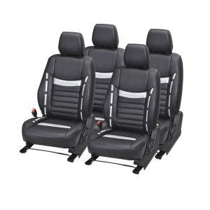 Buy Pegasus Premium Grand I10 Car Seat Cover - (code - Grandi10_black_silver_style) online