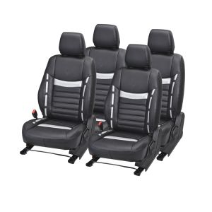 Buy Pegasus Premium Indica Car Seat Cover - (code - Indica_black_silver_style) online