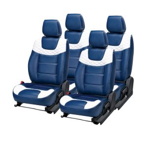 Buy Pegasus Premium Kwid Car Seat Cover - (code - Kwid_blue_white_choice) online