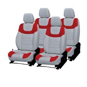 Buy Pegasus Premium Kwid Car Seat Cover - (code - Kwid_white_red_choice) online