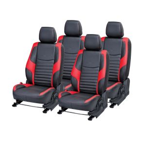 Buy Pegasus Premium Tavera Car Seat Cover - (code - Tavera_black_red_comfert) online