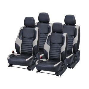 Buy Pegasus Premium Verna Fluidic Car Seat Cover - (code - Vernafluidic_black_grey_comfert) online