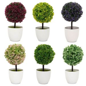 Buy Artificial Ball Bonsai Plants Multicolor Set Of 6 PCs online