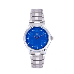 Buy Shostopper Blue Dial Metallic Analogue Watch For Men online