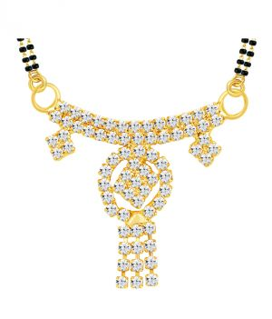 Buy Shostopper Pleasing Gold Plated Australian Diamond Mangalsutra Pendant online