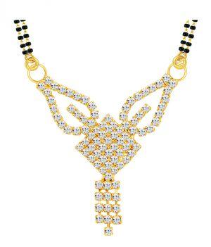 Buy Shostopper Modern Gold Plated Australian Diamond Mangalsutra Pendant online