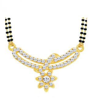 Buy Shostopper Excellent Gold Plated Australian Diamond Mangalsutra Pendant online