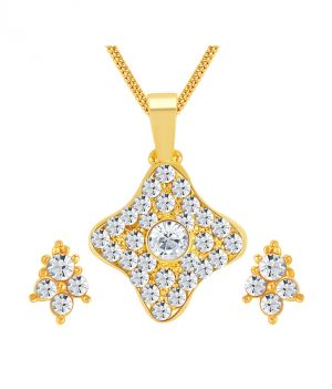 Buy Shostopper Graceful Gold Plated Australian Diamond Pendant Set online