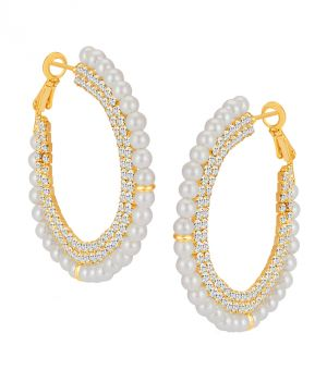 Buy Shostopper Glorious Gold Plated Australian Diamond Earring online