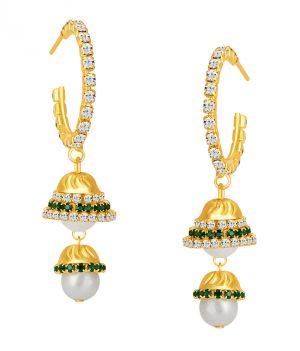 Buy Shostopper Exotic Gold Plated Australian Diamond Earring online
