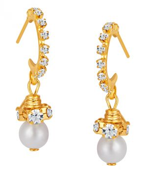 Buy Shostopper Modish Gold Plated Australian Diamond Earring online