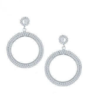 Buy Shostopper Trendy Rhodium Plated Australian Diamond Earring online