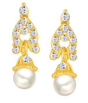 Buy Shostopper Delightful Gold Plated Australian Diamond Earring online