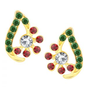 Buy Shostopper Pleasing Gold Plated Australian Diamond Earring Sj6070en online