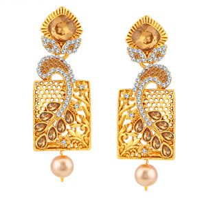 Buy Shostopper Geometrical Gold Plated Earrings For Women Sj6084en online