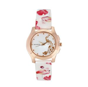 Buy Shostopper White Dial Peacock Analogue Watch For Women online