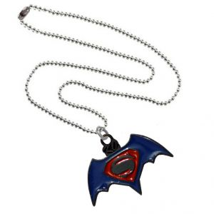 Buy Men Style Superman Inspired Red and Blue Alloy Necklace Pendant For Men And Boys online
