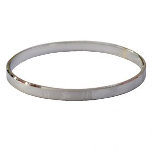 Buy Men Style New Design Om 2-10 Silver Sterling Silver Round Kada For Men And Boys online