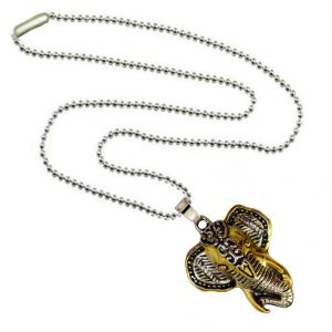 Buy Men Style Elephant Head Animal Gold And Silver Zinc Alloy Cross Necklace Pendant For Men And Boys (product Code -spn003042) online