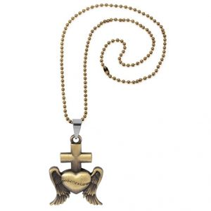 Buy Men Style Best Selling Jesus Cross Design Golden Alloy Jesus Cross Pendent For Men And Women online