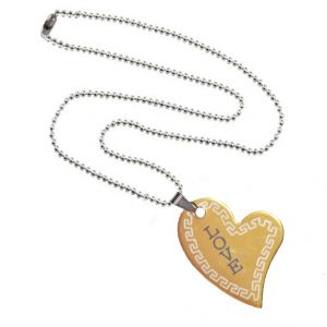 Buy Men Style New Arravial Love Gold Stainless Steel Heart Shape Pendent For Men And Women online
