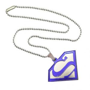 Buy Men Style Hot Selling Superman Inspired Blue Alloy 3 D Shape Pendent For Men And Women online