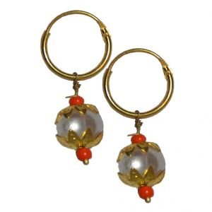 Buy Men Style Best Selling Peral Bali SEr08 4 Gold Alloy piercing Stud Earring For Men And Boy online