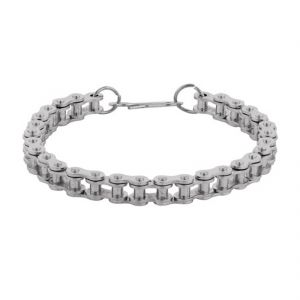 Buy Men Style New Design Cycle Chain Silver Alloy Link Bracelet For Men And B online