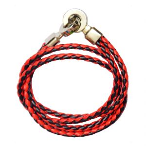 Buy Men Style Men Style Best Quality Stainless Steel Double Braided Red Leather Bracelet For Men And Women online
