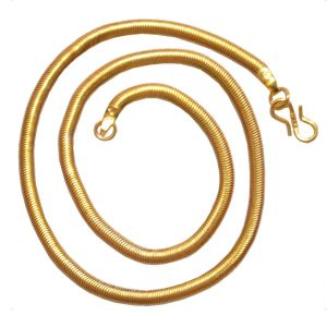 Buy Men Style New Design 2016 22 Inch Gold Alloy Snake Chain For Men And Boy online