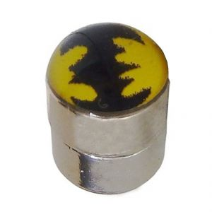 Buy Men Style Batman Inspired Silver Alloy Round Mangnetic Earring For Men And Boy online