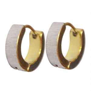 Buy Men Style Best Quality Korean Styles 316l Gold Stainless Steel Round Hoop Earring For Men And Boy online