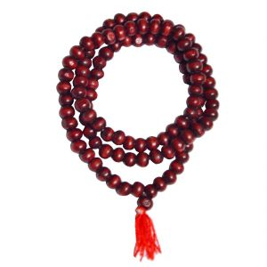 Buy Men Style Ed Sandalwood (lal Chandan) Mala Red Wood Bead Neckalance For Men And Boys online