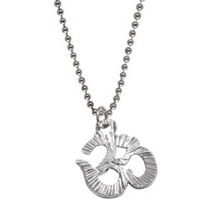 Buy Men Style Silver Sacred Prayer Om Or Aum Symbol Pendent online