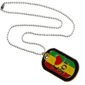 Buy Men Style I Love You Multicolour Alloy Sqaure Necklace Pendant For Men And Boys online