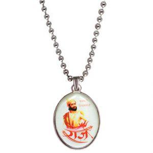 Buy Men Style Chhatrapati Shivaba Raje Maharaj Multicolor Pendent For Men Spn04015 online