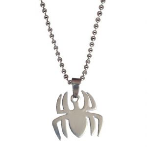 Buy Men Style New Design Spider Silver Stainless Steel Spider Pendent For Men And Women Spn04026 online