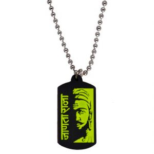 Buy Men Style Best Selling Chhatrapati Janata Raja Shivaji Green Rubber Square Shape Pendent For Men And Women Spn05023 online