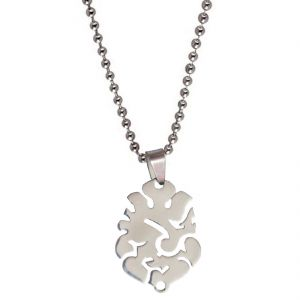 Buy Men Style Shree Jai Ganesh Silver Stainless Steel Cutting Shape Pendent For Men And Women Spn05038 online