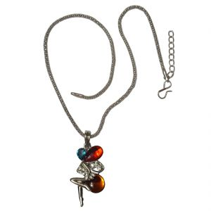 Buy Men Style Fashion Multicolour Crystal Angel Wings Long Chain Multicolor Alloy Butterfly Pendant online