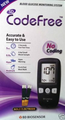 Buy Sd Check Codefree Glucometer With Free 110 Strips Blood Glucose