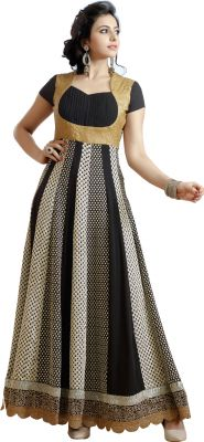 Buy Stylish Fashion Gorgeous Embroidered Black Floor Length Anarkali Suit Sfp-2056 online