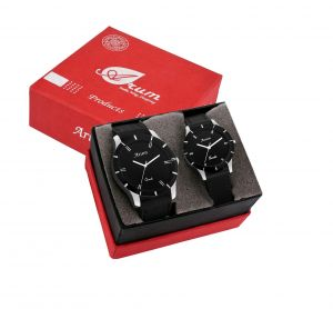 Buy Arum Trendy Black Watch For Couple online