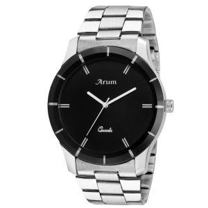 Buy Arum Trendy Black In Silver Watch online