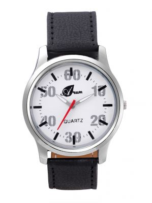 Buy Arum Stylish Black Strap Watch For Men online