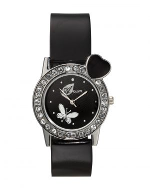 Buy Arum Black Heart Round Ladies Watch online
