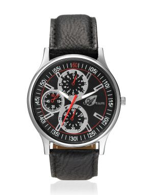 Buy Arum Latest Design In Black Leather Watch online