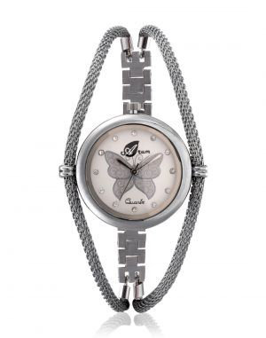 Buy Arum Analog White Dial Women'S Watch online