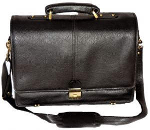 Buy Pe 17 Inch 100% Genuine Leather Laptop Messenger Bag online